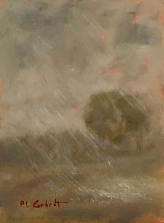 Hail Storm, Patricia Corbett, Oil, 8x6,