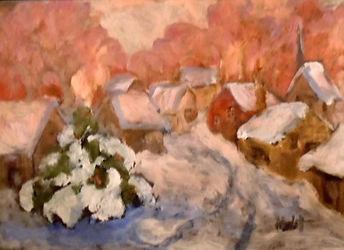 Silent Night, Patricia Corbett, Oil, 5x7