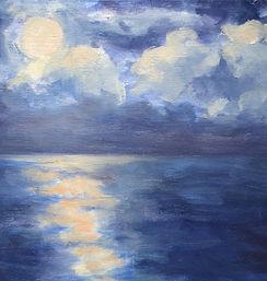 Moon Struck, Patricia Corbett, Oil, 9x12