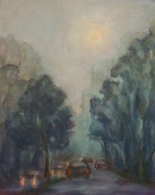 Moonlit Night, Patricia Corbett, Oil, 14