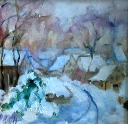 Snow is Glistnen', Patricia Corbett, Oil