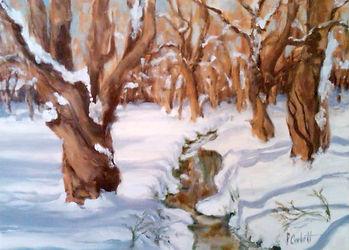 Willow Creek, Patricia Corbett, Oil, 11x