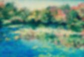 Lily Pond Burst, Patricia Corbett, Oil,