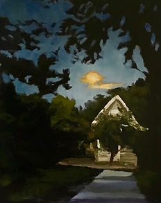 Moon Shadows, Patricia Corbett, Oil, 10x