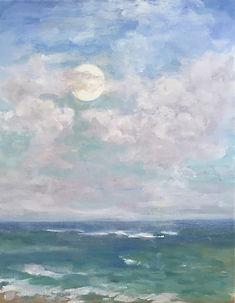 Full Moon Rising, Patricia Corbett, Oil,