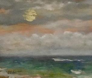 Harvest Moon, Patricia Corbett, Oil, 11x