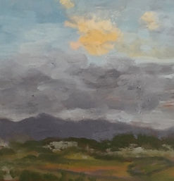 Sunburst, Patricia Corbett, Oil, 5x5, $2