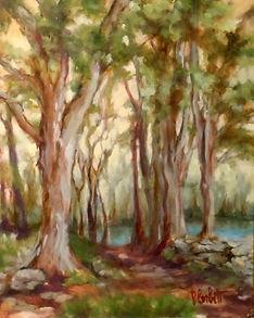 Hidden Pond, Patricia Corbett, 10x8, $39