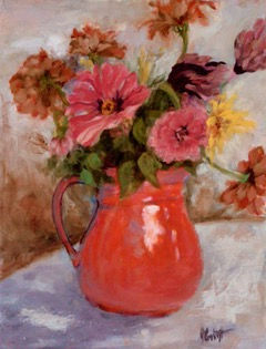 The Red Pitcher, Patricia Corbett, Oil,