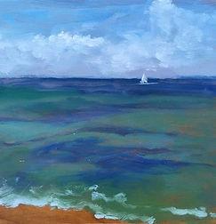 Deep Blue Sea, Patricia Corbett, Oil, 5x