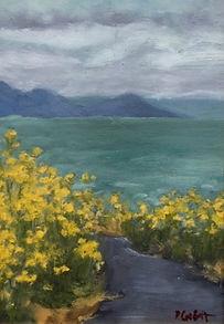 Flores Amarillos, Patricia Corbett, Oil,