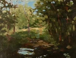 Hidden Creek, Patricia Corbett, Oil, 8x1