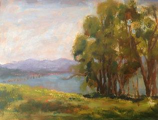 Bodega Bay, Patricia Corbett, Oil, 11x14
