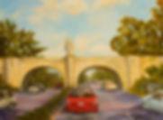 Nike Wings Bridge, Patricia Corbett, Oil