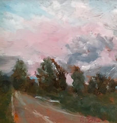 Skies Are Pink, Patricia Corbett, Oil, 5