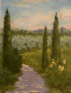 Villa Borghese, Patricia Corbett, Oil, 1