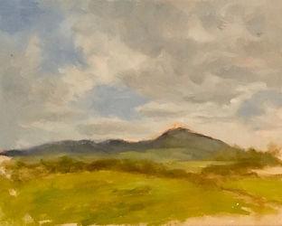 La Montagna, Patricia Corbett, Oil, 9x12