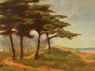 Pines On The Bay, Patricia Corbett, Oil,