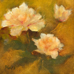 Perfect Peonies, Patricia Corbett, Oil,
