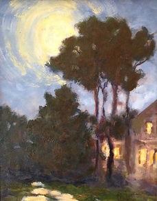 Misbegotten Moon, Patricia Corbett, Oil,