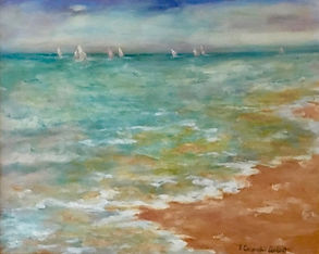 Sailing Away, Patricia Corbett, Oil, 16x