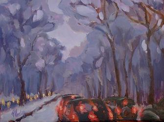 Snowjamboree, Patricia Corbett, Oil, 36x