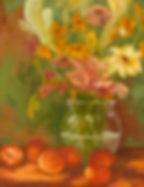Summer Peaches, Patricia Corbett, Oil, 1