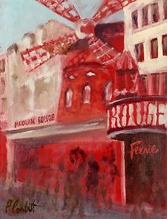 Moulin Rouge, Patricia Corbett, Oil, 14x