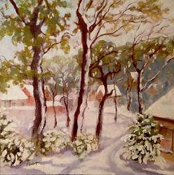 Winter Fantasia, Patricia Corbett, Oil,