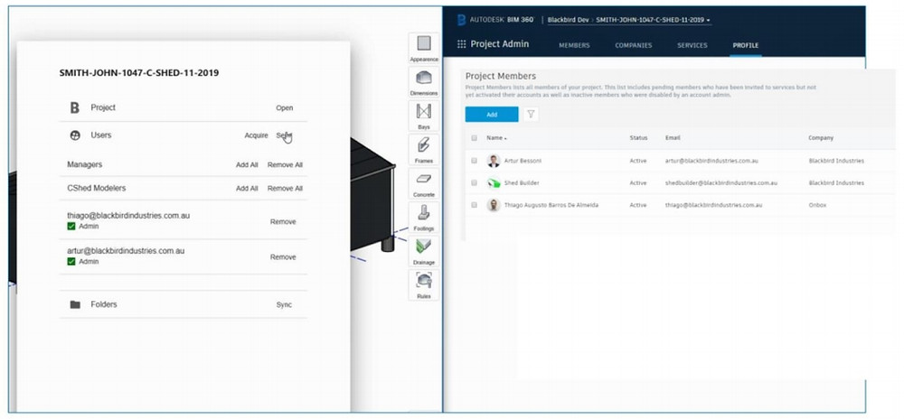Invite new BIM 360 users from Shedmate automatically