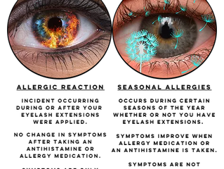 ALLERGIES AND EYELASH EXTENSIONS