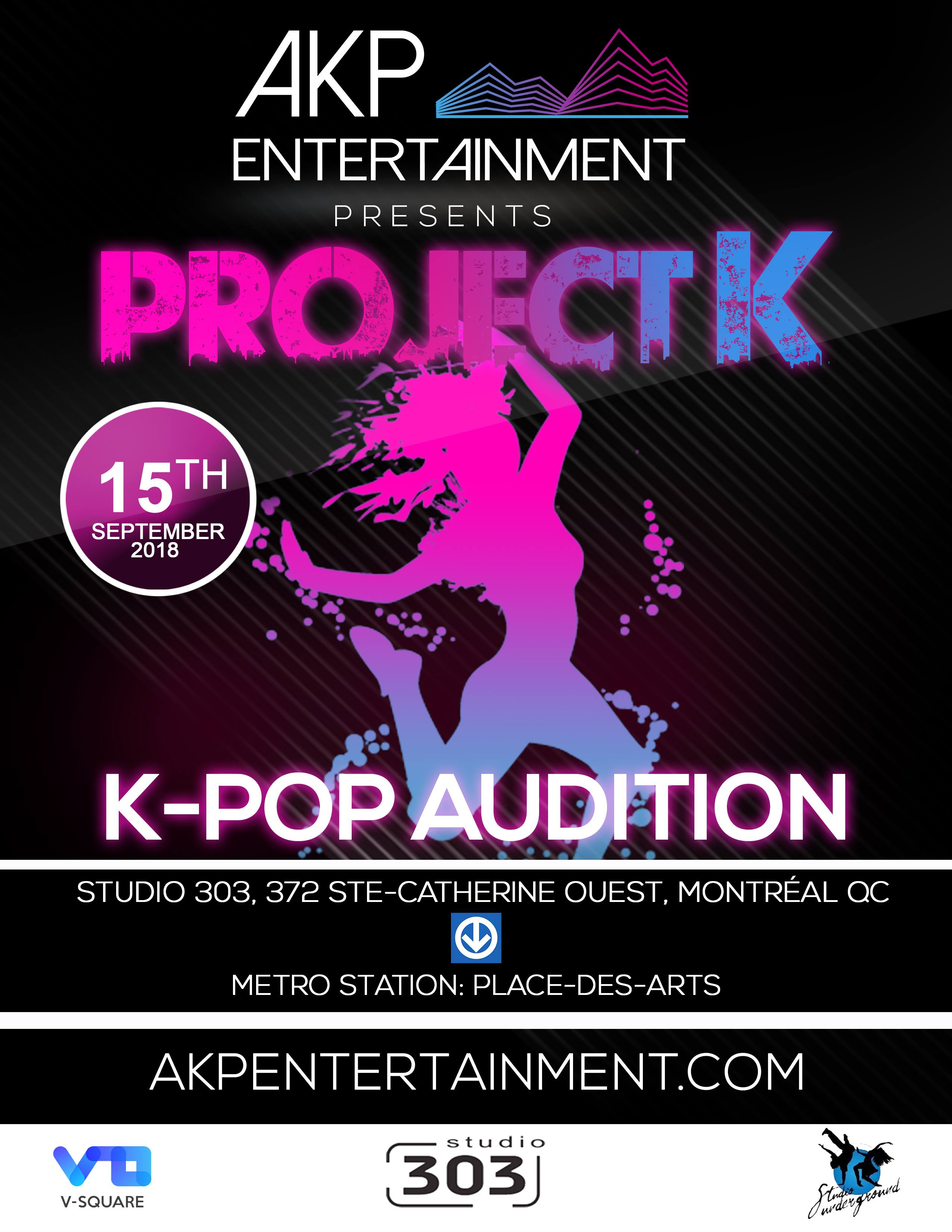 AKP Entertainment - K-pop - Auditions - Montreal