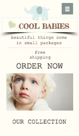 Fashion & Accessories website templates – Baby Clothes