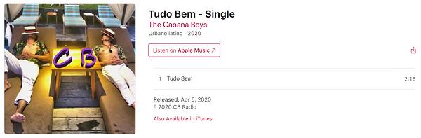 The Cabana Boys - Tudo Bem Single.PNG