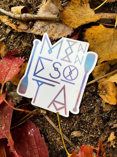 """Minnesota"" Die-Cut Vinyl Sticker"