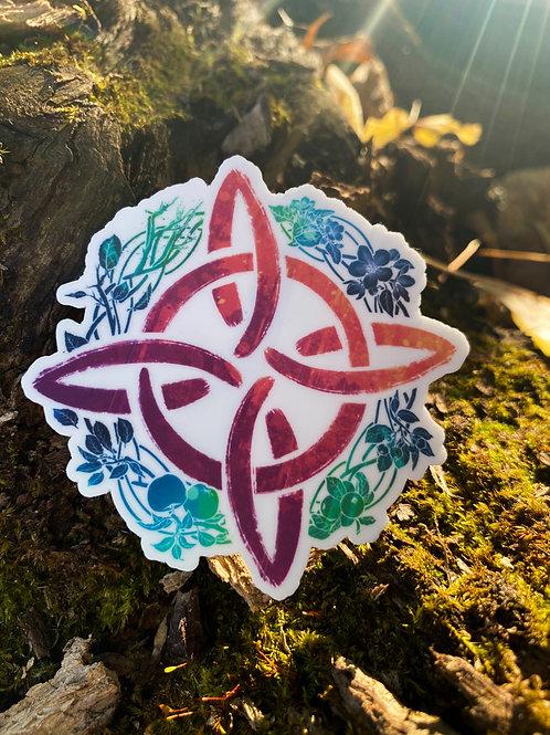 """""""Gaelic Year"""" Die-Cut Vinyl Sticker"""