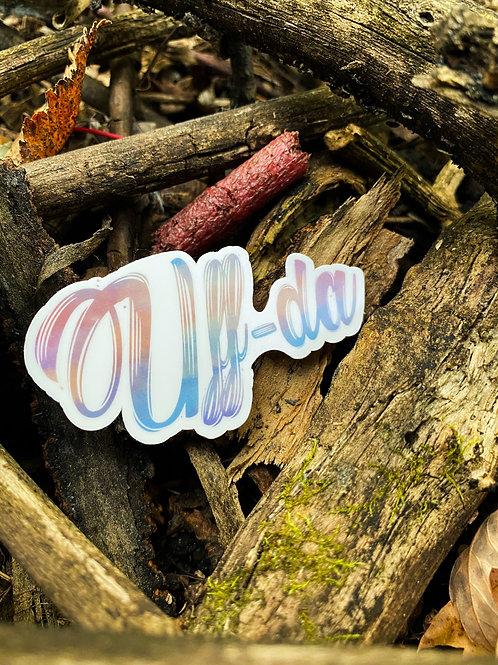 """Uff-da"" Die-Cut Vinyl Sticker"