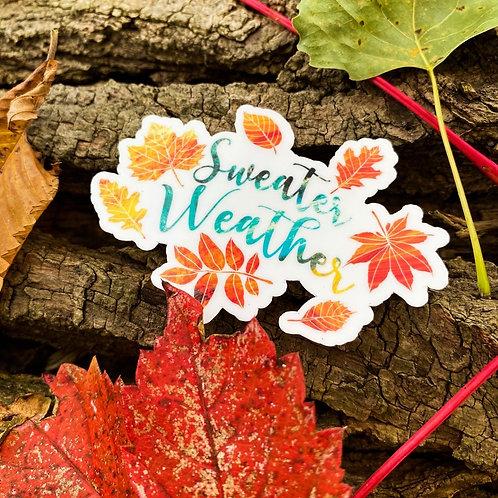"""""""Sweater Weather"""" Die-Cut Vinyl Sticker"""