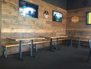 Custom Restaurant Interior Spokane using Barn Wood and Industrial Design
