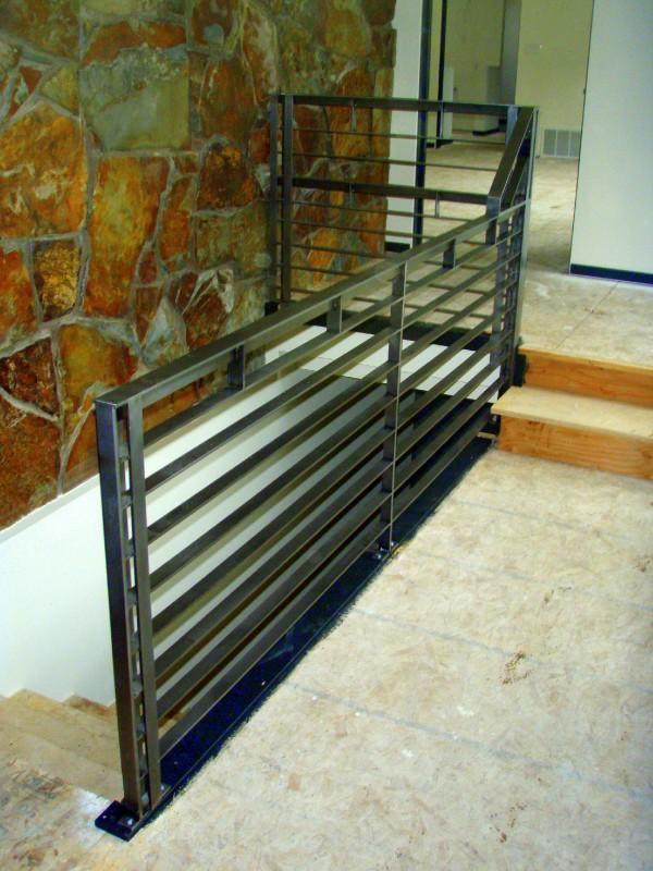 modern industrial steel railing