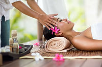 Spa massage, facial massage outdoor natu