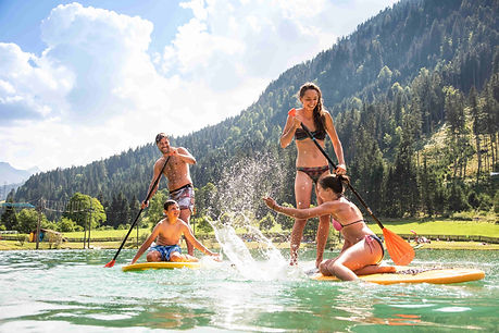 Stand Up Paddling in Flachau