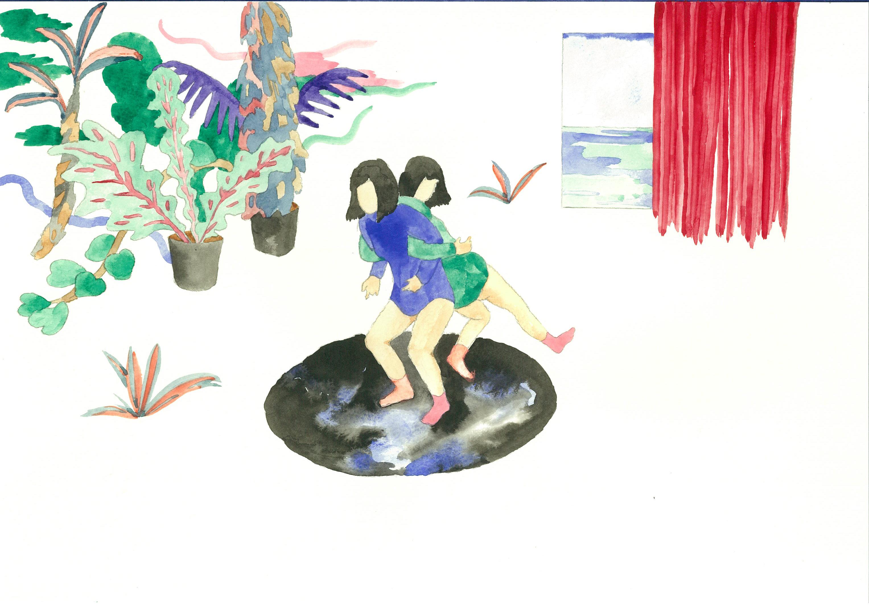 找尋。她問向南風時   展覽主視覺插畫   展覽時間:2020/9/12~10/4