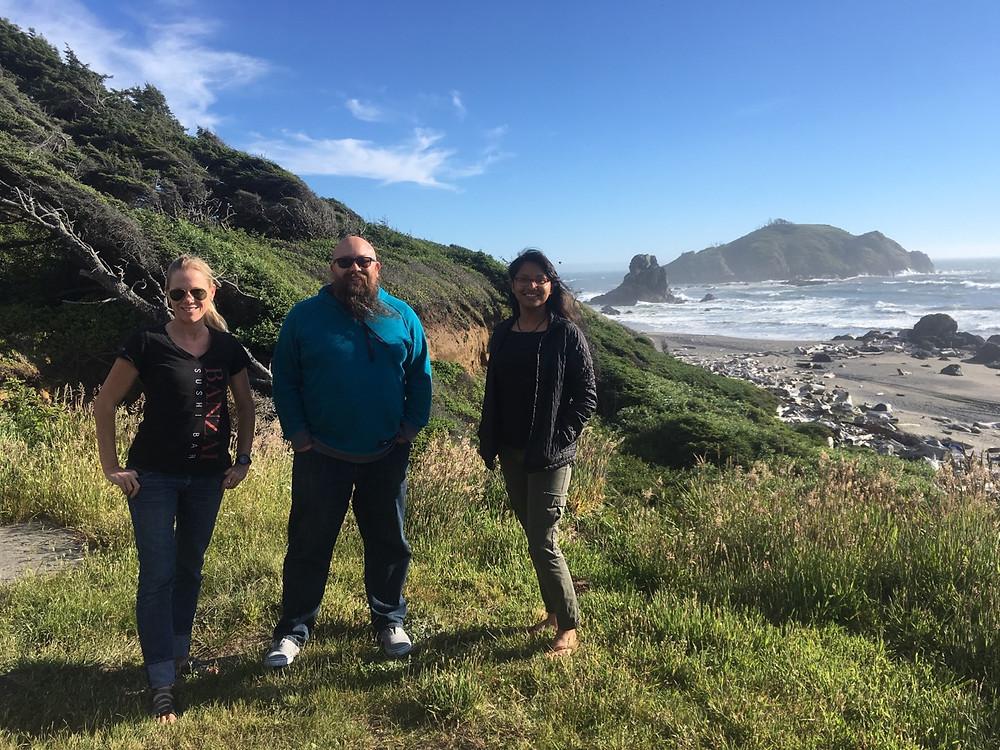 Laura, Rob, and Alyssa in Smith River, CA