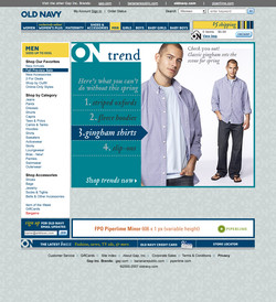 Old Navy Department Pages