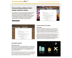 Screenwriting Pro Features