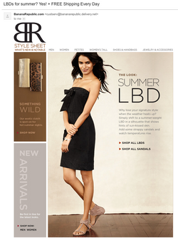 Little Black Dress Email