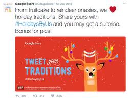 Google Store Holiday Tweet