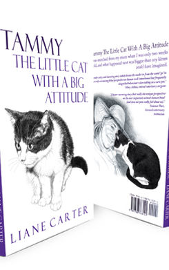Tammy: The Little Cat with a Big Attitude book cover by author Liane Carter