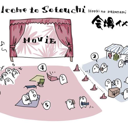 瀬戸内ほしのさざさみ映画館 会場イメージ